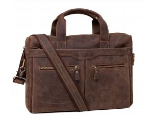 Мужская кожаная сумка для документов матовая кожа Jasper & Maine 7122R - Royalbag