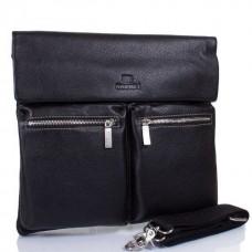 Кожаная мужская сумка через плечо Lareboss 8259-1 BLACK - Royalbag Фото 2