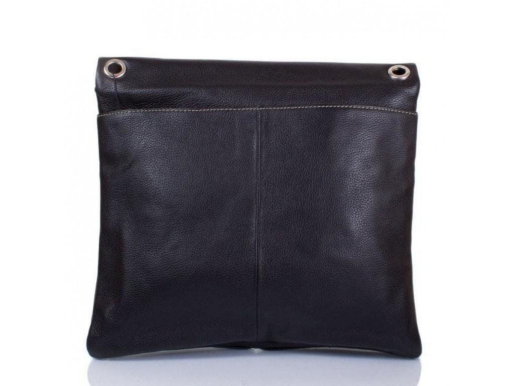 Кожаная мужская сумка через плечо Lareboss 8259-1 BLACK - Royalbag