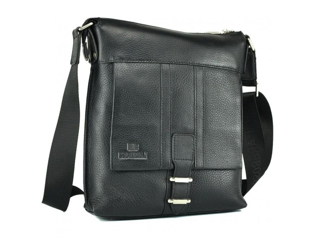 Чоловіча сумка через плече шкіряна Lareboss M8837-3 BLACK - Royalbag Фото 1