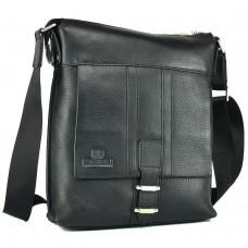 Чоловіча сумка через плече шкіряна Lareboss M8837-3 BLACK - Royalbag Фото 2