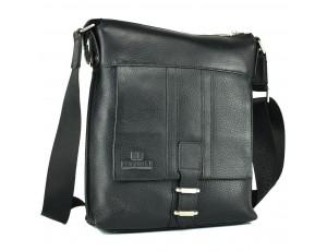 Чоловіча сумка через плече шкіряна Lareboss M8837-3 BLACK - Royalbag