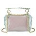 Сумочка-джелли прозрачная с заклепками розовая Mona W04-10024P - Royalbag Фото 4