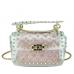 Сумочка-джелли прозрачная с заклепками розовая Mona W04-10024P - Royalbag Фото 5