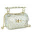 Сумочка-джеллі прозора з заклепками біла Mona W04-10024W - Royalbag