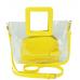 Сумочка-джеллі на плече прозора жовта Mona W04-8992Y - Royalbag Фото 4