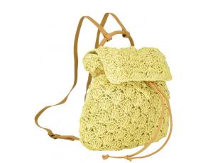 Плетена сумка-рюкзак бежева Mona WS03-3357BG - Royalbag