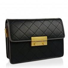 Женская маленькая черная сумка W16-160A - Royalbag