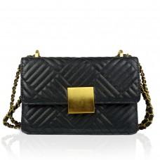 Женская маленькая черная сумка через плечо W16-321A - Royalbag