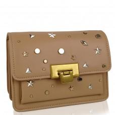 Женская элегантная бежевая сумка W16-808BG - Royalbag