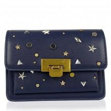 Женская элегантная темно синяя сумка W16-808BL - Royalbag