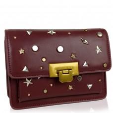 Женская элегантная бордовая сумка W16-808BO-1 - Royalbag