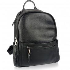 Жіночий шкіряний рюкзак чорного кольору F-A25F-FL-868WA - Royalbag