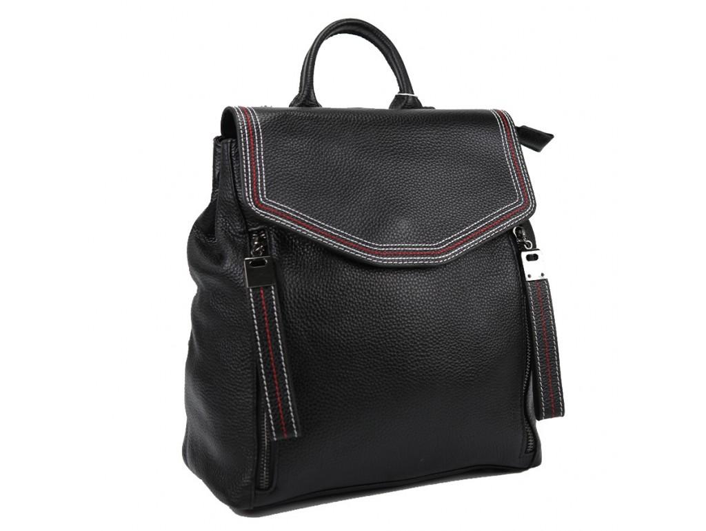 Жіночий шкіряний рюкзак чорного кольору F-A25F-FL-88805WA - Royalbag Фото 1