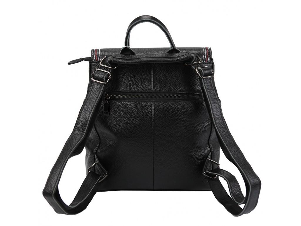 Жіночий шкіряний рюкзак чорного кольору F-A25F-FL-88805WA - Royalbag