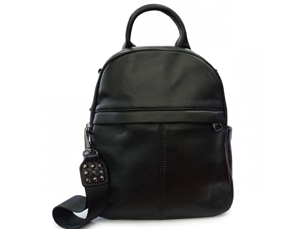 Жіночий чорний шкіряний рюкзак Olivia Leather F-FL-NWBP27-010A - Royalbag