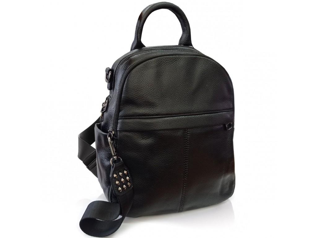 Жіночий чорний шкіряний рюкзак Olivia Leather F-FL-NWBP27-010A - Royalbag Фото 1