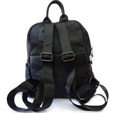 Жіночий чорний шкіряний рюкзак Olivia Leather F-FL-NWBP27-011A - Royalbag