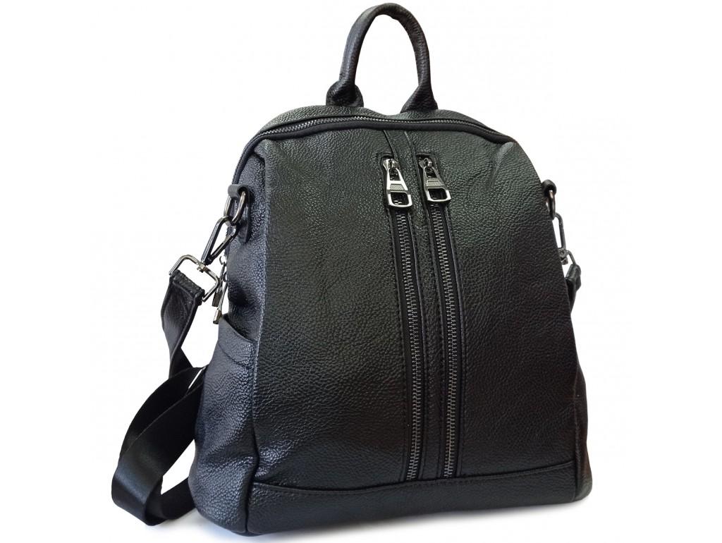 Жіночий чорний шкіряний рюкзак Olivia Leather F-FL-NWBP27-011A - Royalbag Фото 1