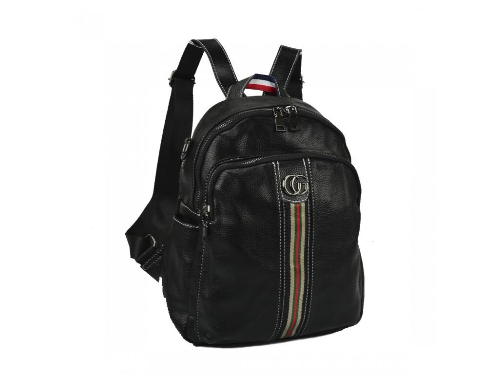 Жіночий шкіряний рюкзак чорного кольору F-NWBP27-88843A - Royalbag Фото 1