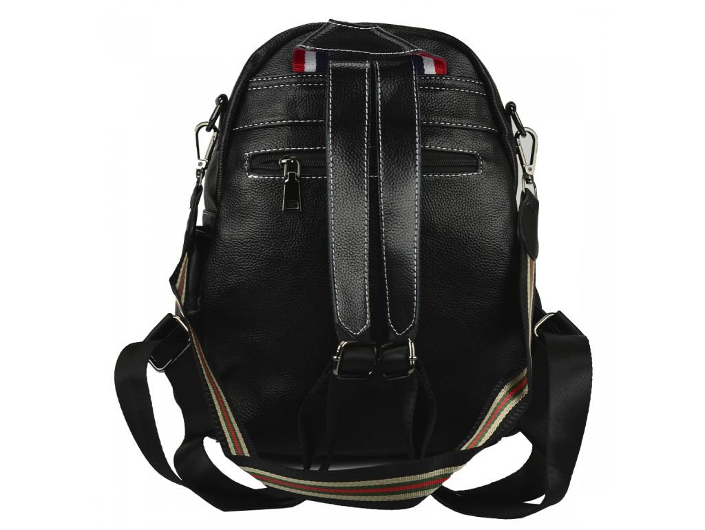 Жіночий шкіряний рюкзак чорного кольору F-NWBP27-88843A - Royalbag