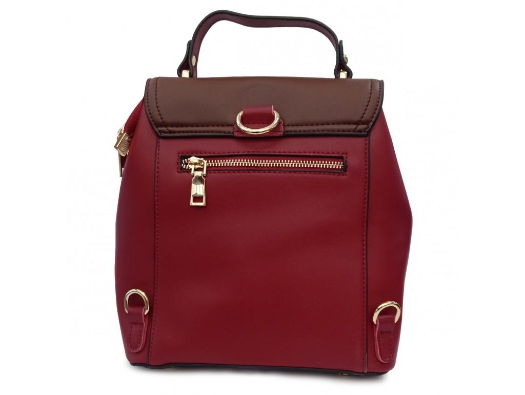 Рюкзак двоколірний червоно-коричневий Olivia Leather F-S-Y01-7002R - Royalbag