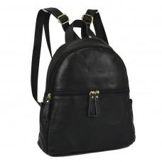 Жіночий шкіряний рюкзак чорного кольору NM20-W008A - Royalbag