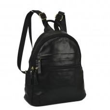 Жіночий шкіряний рюкзак чорного кольору NM20-W775A - Royalbag