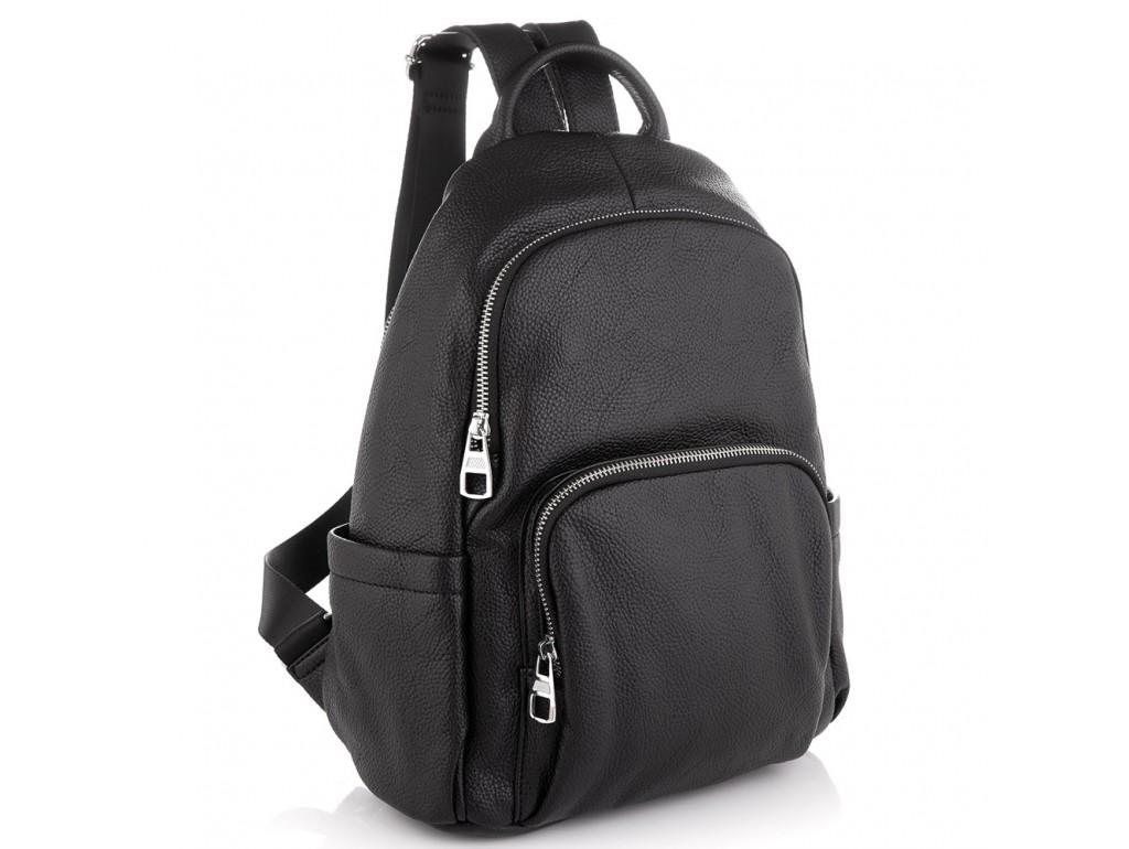 Женский кожаный черный рюкзак Olivia Leather NWBP27-001A - Royalbag Фото 1