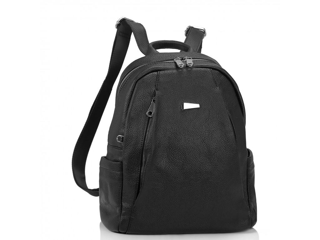 Женский черный рюкзак Olivia Leather NWBP27-008A - Royalbag Фото 1