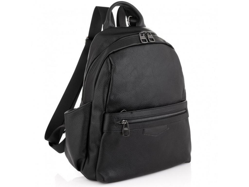 Жіночий чорний шкіряний рюкзак Olivia Leather NWBP27-007A - Royalbag Фото 1
