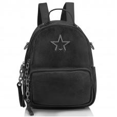 Женский кожаный городской рюкзак черный Olivia Leather NWBP27-5530-1A - Royalbag