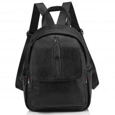 Женский кожаный городской рюкзак черный Olivia Leather NWBP27-6630A - Royalbag