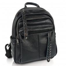 Жіночий чорний шкіряний рюкзак міського типу NWBP27-6660A-BP - Royalbag