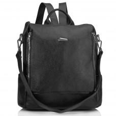 Женский кожаный городской рюкзак черный Olivia Leather NWBP27-8845A - Royalbag