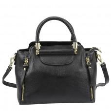 Женская кожаная сумка черного цвета Riche F-A25F-FL-86002WA - Royalbag