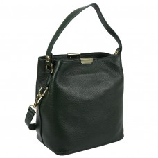Женская кожаная сумка зеленого цвета Riche F-A25F-FL-89012WGR - Royalbag