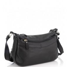 Женская кожаная сумка черная Riche NM20-W0326A - Royalbag Фото 2
