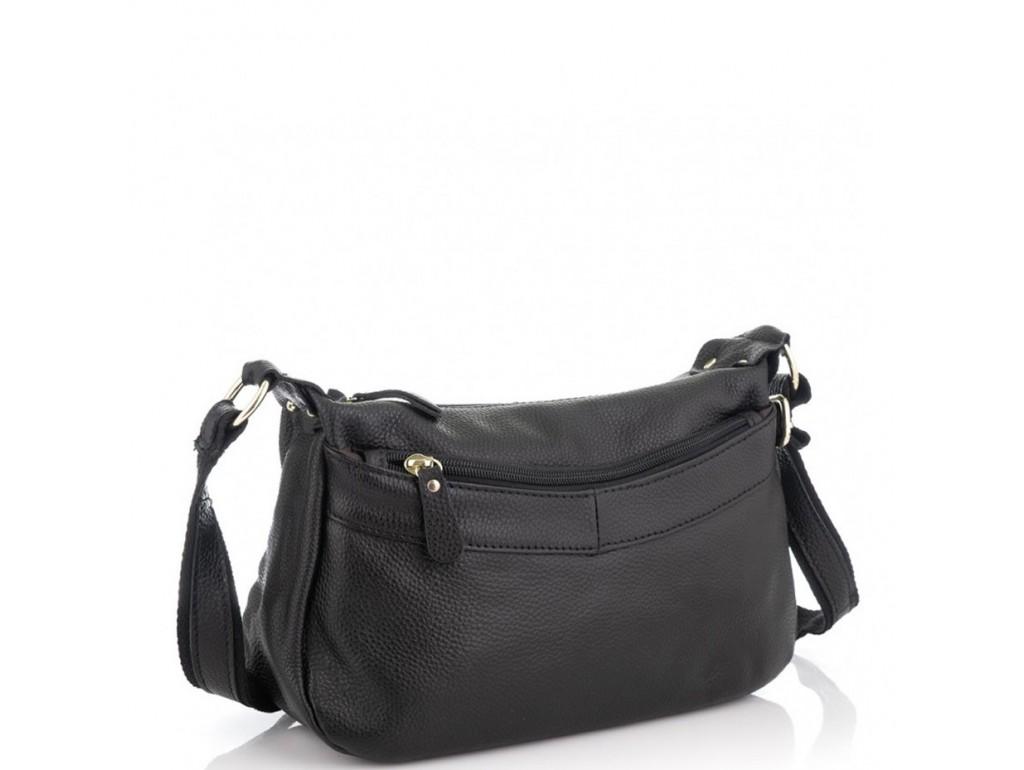 Женская кожаная сумка черная Riche NM20-W0326A - Royalbag Фото 1