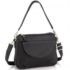 Женская кожаная сумка черная Riche NM20-W1195A - Royalbag