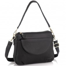 Женская кожаная сумка черная Riche NM20-W1195A - Royalbag Фото 2