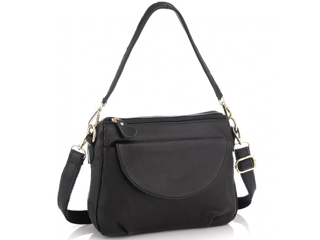 Женская кожаная сумка черная Riche NM20-W1195A - Royalbag Фото 1