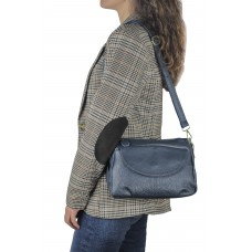 Жіноча шкіряна сумка синя Riche NM20-W1195BL - Royalbag