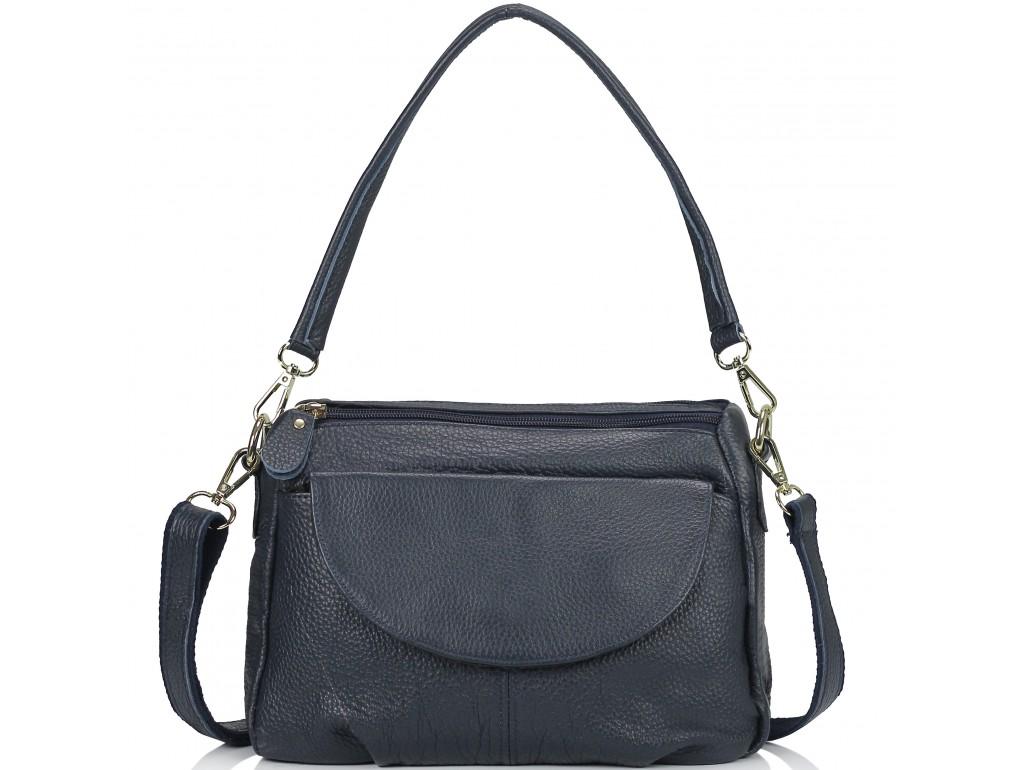 Женская кожаная сумка синяя Riche NM20-W1195BL - Royalbag