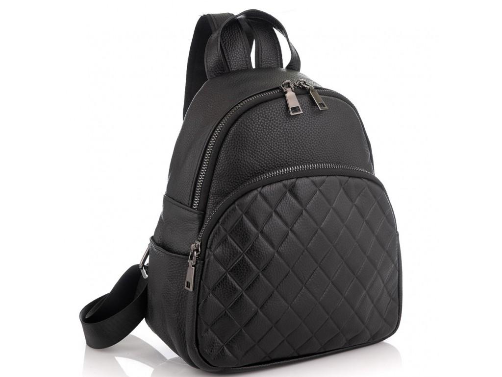 Женский кожаный черный рюкзак Riche NM20-W322A - Royalbag Фото 1