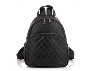 Женский кожаный черный рюкзак Riche NM20-W322A - Royalbag