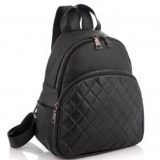 Женский кожаный черный рюкзак Riche NM20-W322A - Royalbag Фото 2