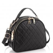 Шкіряна чорна жіноча сумка Riche NM20-W323A - Royalbag