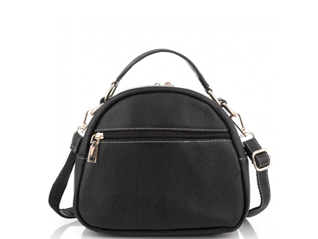 Кожаная черная женская сумка Riche NM20-W323A - Royalbag