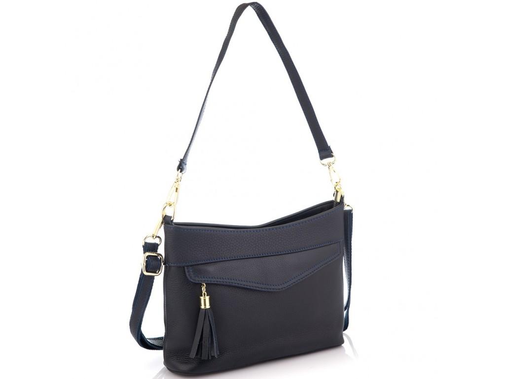 Кожаная женская сумка синяя Riche NM20-W832BL - Royalbag Фото 1